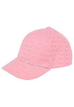 F&F Broderie Anglaise Cap - Pink