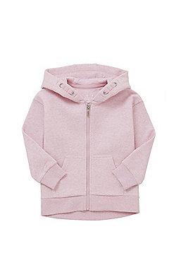 F&F Jersey Zip-Through Hoodie - Pink
