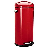 simplehuman Red 30L Retro Pedal Bin