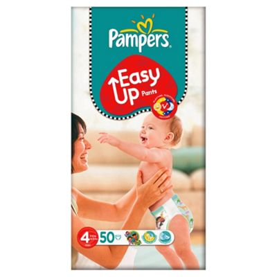 Pampers Easy Ups Size 4 Large Pack - 50 nappies