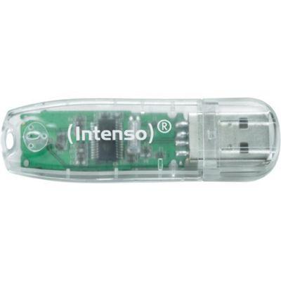 Intenso 32 GB USB 2.0 Flash Drive - Transparent