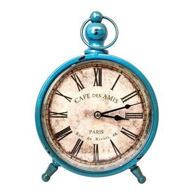 Vintage Distressed Style Paris Standing Clock - Blue