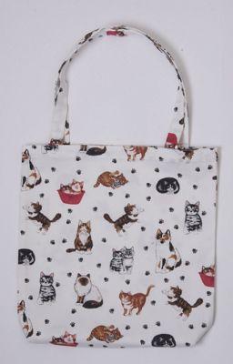 Roy Kirkham PVC Coated Cotton Shopping Bag, Cats
