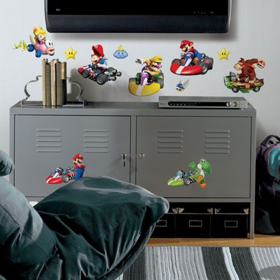 Childrens Wall Stickers - Mario Kart Nintendo Wii