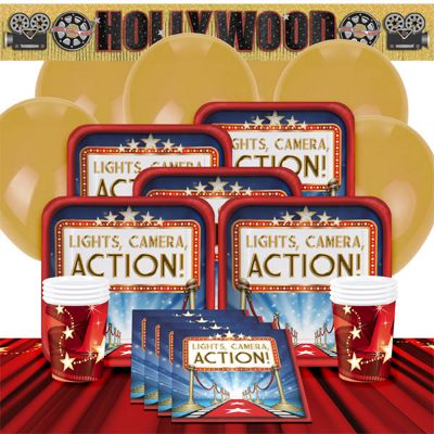 Hollywood Lights Party Pack - Deluxe Pack for 8