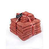 Dreamscene Luxury Egyptian Cotton 10 Piece Bathroom Towel Set - Coral