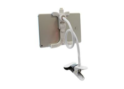 Aquarius 360° Flexible Tablet Holder, iPad Mini Rotation Stand Adjustable Clamp Clip White - R159216
