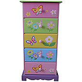 Liberty House Butterfly Garden 5 Drawer Storage