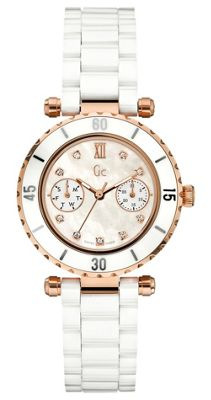 Gc Diver Chic Ladies Day/Date Display Diamond Set Watch - X46104L1S