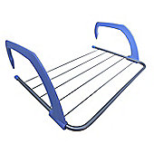 Sabichi Indoor Windows Airer, Tubular Steel Construction, Foldable (Blue)