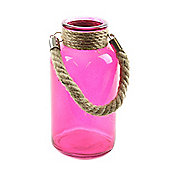 Glass Milk Jar - 20cm - Pink