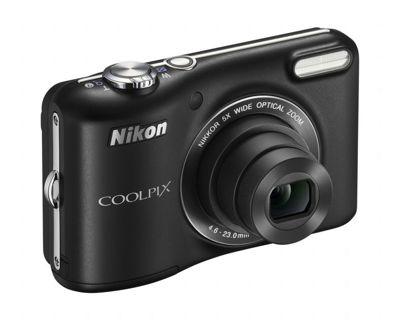 Nikon Coolpix L28 Camera Black 20.1MP 5xZoom 3.0LCD 720pHD 26mm Wide Lens