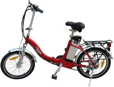 Electric E-Wayfarer Red - folding ebike