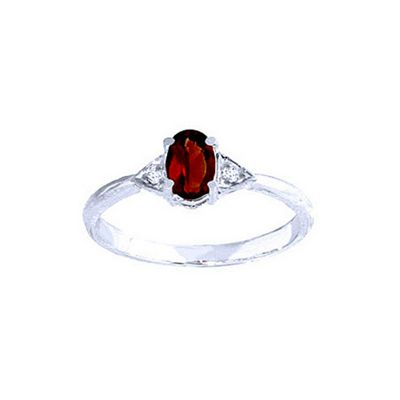 QP Jewellers Diamond & Garnet Allure Ring in 14K White Gold - Size E 1/2