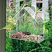 Hanging Glass Window Clear Viewing Bird Feeding Table Station