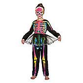 F&F Tutu Skeleton Halloween Costume - Black