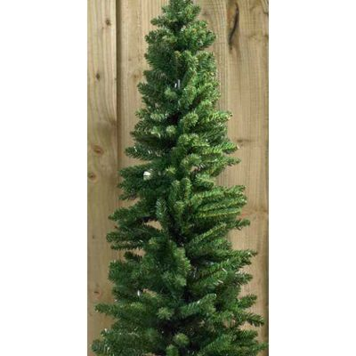 180cm Green Pencil Xmas Christmas Tree With Metal Stand