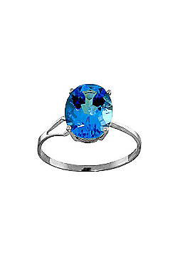 QP Jewellers 2.20ct Blue Topaz Ring in Sterling Silver