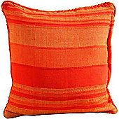 Homescapes Cotton Morocco Striped Terracotta Prefilled Cushion, 60 x 60 cm