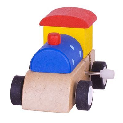 Bigjigs Toys Clockwork Train (Blue with Blue Spots)