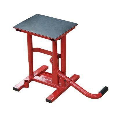 Homcom Lift Stand Motorcycle Garage Adjustable Bike Repair Maintenance Steel Frame Red