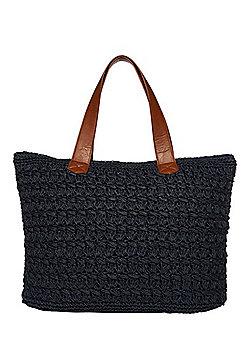 F&F Straw Tote Bag
