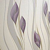 Superfresco Easy Peace Paste The Wall Lilies Floral Plum/Cream Wallpaper