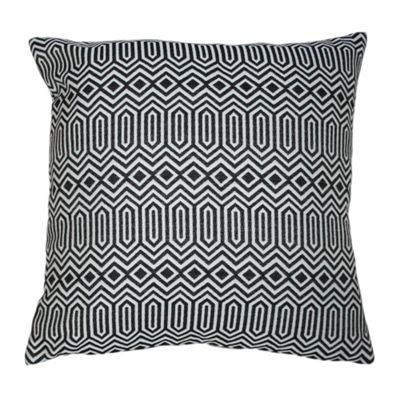 McAlister Smooth Touch Cushion Cover Black Geometric Design