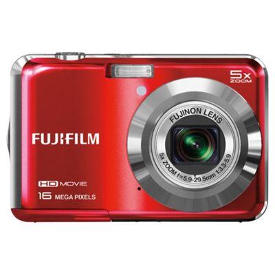 Fuji AX650 Digital Camera, Red, 16MP, 5x Optical Zoom, 2.7