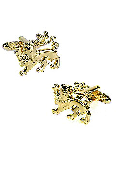 Gilt Lion Crest Novelty Themed Cufflinks