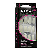 Royal 24 Glue-On Strong & Resilient Stiletto Full False Fake Nails Nail Tips