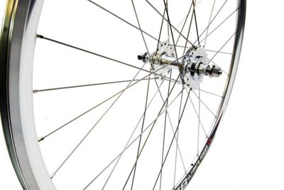 700c Sealed Novatec Hubs Single Speed Fixie Flip Flop Wheels Silver