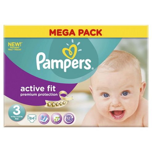Pampers Active Fit Size 3 Mega Pack - 84 nappies