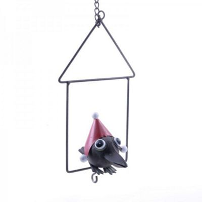 Hanging Metal Christmas Fat Ball Holder Bird Feeder