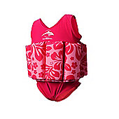 Konfidence Floatsuit Pink Hibiscus 2 to 3 Years