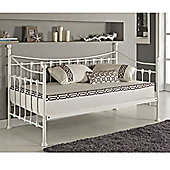 Seville Metal Day Bed White - White