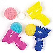 Space Sponge Shooters for Children - Fun Toy Party Bag Filler Loot Gifts for Kids (Pack of 6)