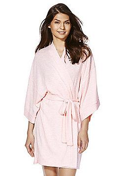 F&F Lightweight Knit Kimono Dressing Gown - Light pink