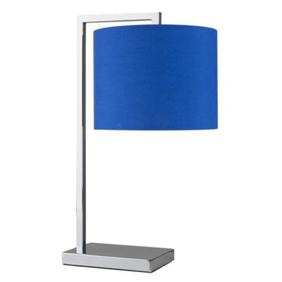 MiniSun Linus Modern Touch Dimmer Table Lamp - Chrome & Dark Blue