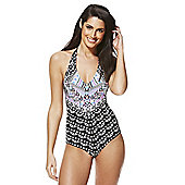 F&F Aztec Print Halterneck Swimsuit - Multi