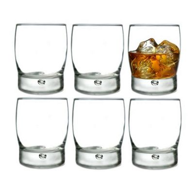 Durobor Bubble Base Whisky Glass Tumblers, Set of 6