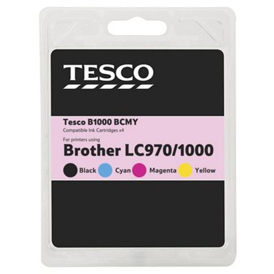 Tesco B1000 Multipack (Compatible with printers using Brother LC970/1000 ink cartridges)