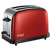 Russell Hobbs 23330 Colours Plus 2 Slice Toaster - Red