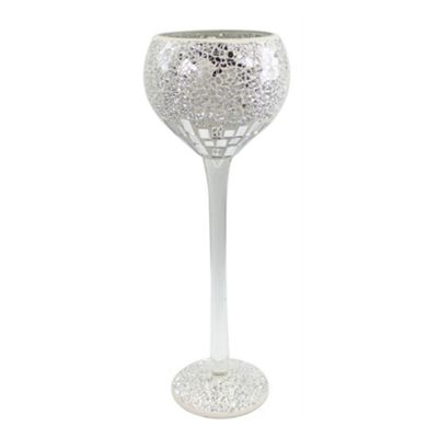 Silver and Chrome Mosaic Large Goblet