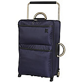 IT Luggage World's Lightest 2 wheel Medium Evening Blue Suitcase
