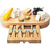 Occasion Oval Cheese Board with Drawer and 4 Cheese Knives