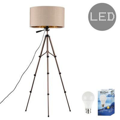 Hogan 134cm LED Tripod Floor Lamp - Beige