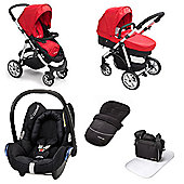 Mee-go Pramette Maxi Cosi Travel System - Red