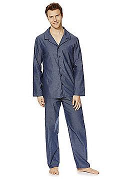 F&F Classic Marl Pyjamas - Blue marl