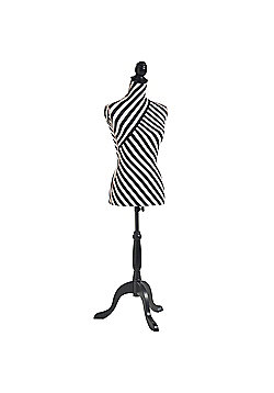 Beautify Black & White Striped Mannequin - UK Size 8/10
